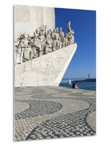 Monument to the Discoveries, Belem, Lisbon, Portugal, Europe-Stuart Black-Metal Print