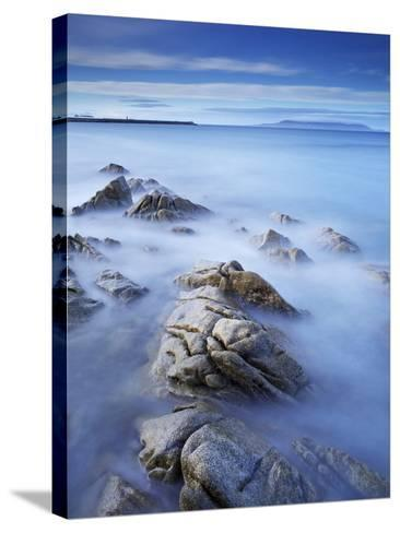 Dun Laoghaire Pier and Howth Island, Dublin, County Dublin, Republic of Ireland, Europe-Jeremy Lightfoot-Stretched Canvas Print