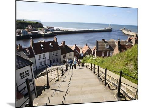 The 199 Steps in Whitby, North Yorkshire, England, United Kingdom, Europe-Mark Sunderland-Mounted Photographic Print