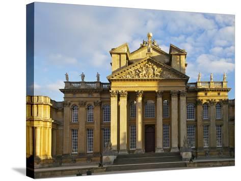 Main Entrance, Blenheim Palace, UNESCO World Heritage Site, Woodstock, Oxfordshire, England, UK-Peter Barritt-Stretched Canvas Print