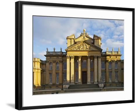 Main Entrance, Blenheim Palace, UNESCO World Heritage Site, Woodstock, Oxfordshire, England, UK-Peter Barritt-Framed Art Print