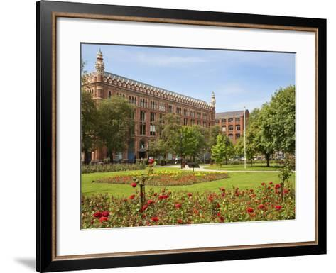Roses in Bloom in Park Square, Leeds, West Yorkshire, Yorkshire, England, United Kingdom, Europe-Mark Sunderland-Framed Art Print