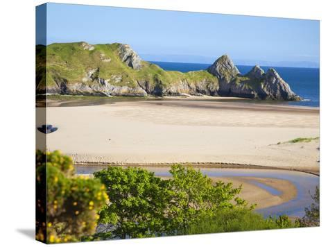 Three Cliffs Bay, Gower, Wales, United Kingdom, Europe-Billy Stock-Stretched Canvas Print