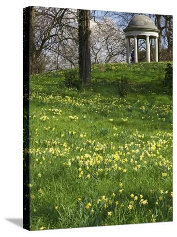 Temple of Aeolus in Spring, Royal Botanic Gardens, Kew, UNESCO World Heritage Site, London, England-Peter Barritt-Stretched Canvas Print