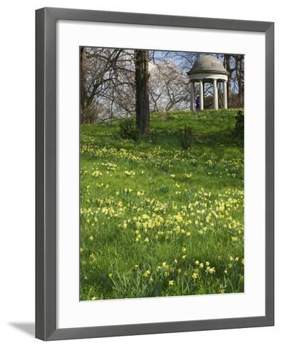Temple of Aeolus in Spring, Royal Botanic Gardens, Kew, UNESCO World Heritage Site, London, England-Peter Barritt-Framed Art Print