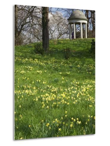 Temple of Aeolus in Spring, Royal Botanic Gardens, Kew, UNESCO World Heritage Site, London, England-Peter Barritt-Metal Print