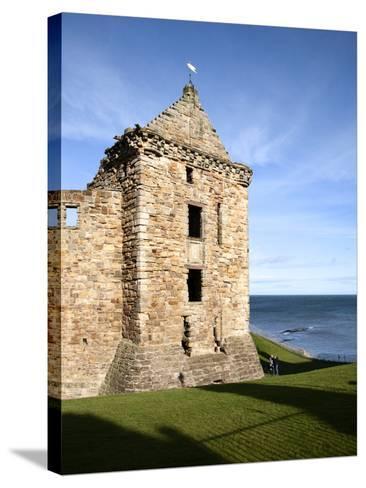St Andrews Castle, St Andrews, Fife, Scotland-Mark Sunderland-Stretched Canvas Print