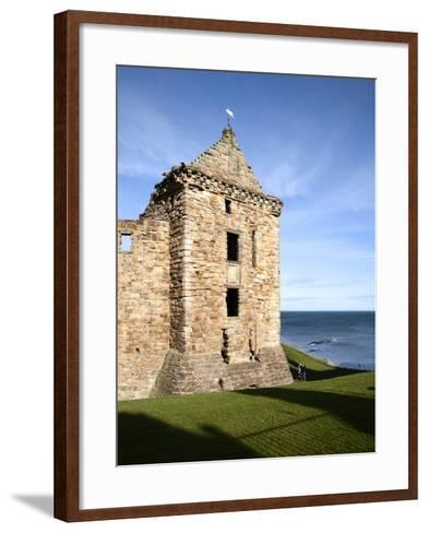 St Andrews Castle, St Andrews, Fife, Scotland-Mark Sunderland-Framed Art Print