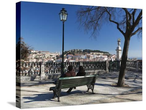 View over City from Miradouro de Sao Pedro de Alcantara, Bairro Alto, Lisbon, Portugal, Europe-Stuart Black-Stretched Canvas Print