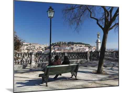 View over City from Miradouro de Sao Pedro de Alcantara, Bairro Alto, Lisbon, Portugal, Europe-Stuart Black-Mounted Photographic Print