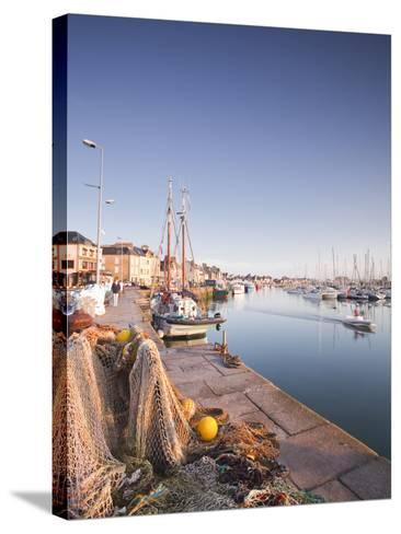 The Small Fishing Port of Saint Vaast La Hougue, Cotentin Peninsula, Normandy, France, Europe-Julian Elliott-Stretched Canvas Print