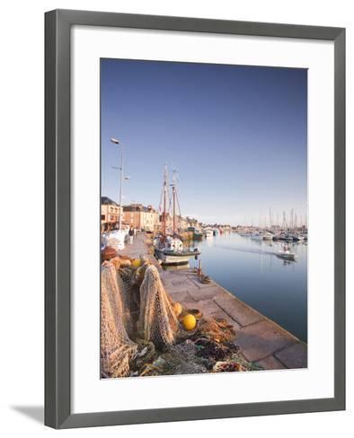 The Small Fishing Port of Saint Vaast La Hougue, Cotentin Peninsula, Normandy, France, Europe-Julian Elliott-Framed Art Print