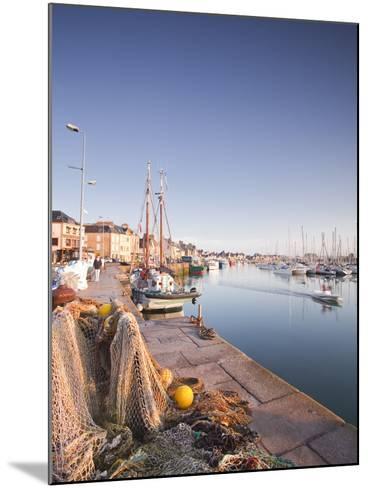 The Small Fishing Port of Saint Vaast La Hougue, Cotentin Peninsula, Normandy, France, Europe-Julian Elliott-Mounted Photographic Print