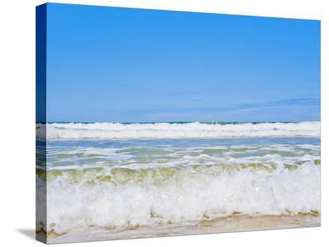 Tropical Paradise of Seventy Five Mile Beach, Fraser Island, UNESCO World Heritage Site, Australia-Matthew Williams-Ellis-Stretched Canvas Print