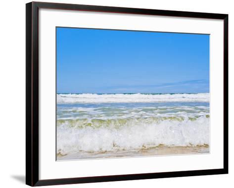 Tropical Paradise of Seventy Five Mile Beach, Fraser Island, UNESCO World Heritage Site, Australia-Matthew Williams-Ellis-Framed Art Print
