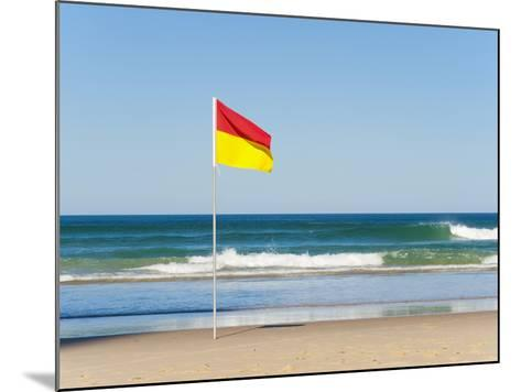Swimming Flag for Satefy at Surfers Paradise Beach, Gold Coast, Queensland, Australia, Pacific-Matthew Williams-Ellis-Mounted Photographic Print