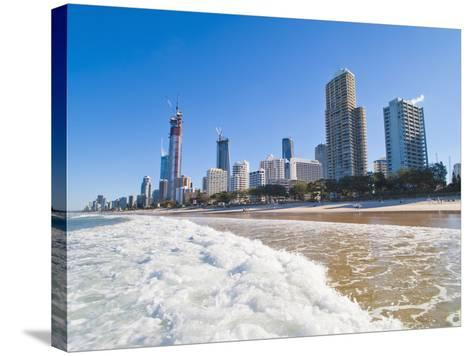 Surfers Paradise Beach and High Rise Buildings, the Gold Coast, Queensland, Australia, Pacific-Matthew Williams-Ellis-Stretched Canvas Print