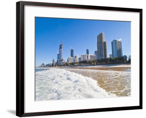 Surfers Paradise Beach and High Rise Buildings, the Gold Coast, Queensland, Australia, Pacific-Matthew Williams-Ellis-Framed Art Print