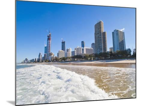 Surfers Paradise Beach and High Rise Buildings, the Gold Coast, Queensland, Australia, Pacific-Matthew Williams-Ellis-Mounted Photographic Print