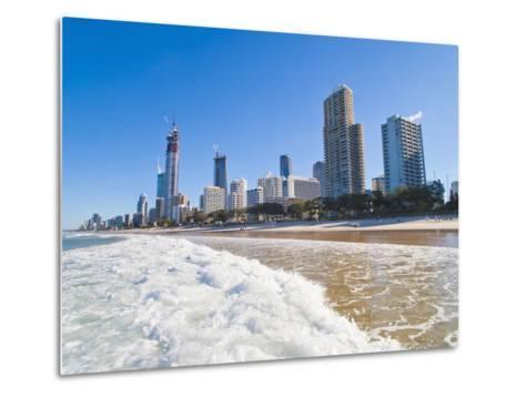 Surfers Paradise Beach and High Rise Buildings, the Gold Coast, Queensland, Australia, Pacific-Matthew Williams-Ellis-Metal Print