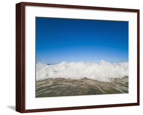 Bright Blue Sky and Waves Breaking at Surfers Paradise Beach, Gold Coast, Queensland, Australia-Matthew Williams-Ellis-Framed Art Print