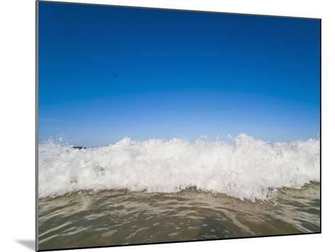Bright Blue Sky and Waves Breaking at Surfers Paradise Beach, Gold Coast, Queensland, Australia-Matthew Williams-Ellis-Mounted Photographic Print
