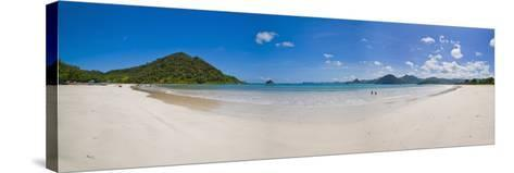 Panoramic Photo of Idyllic Selong Belanak Beach, South Lombok, Indonesia, Southeast Asia, Asia-Matthew Williams-Ellis-Stretched Canvas Print