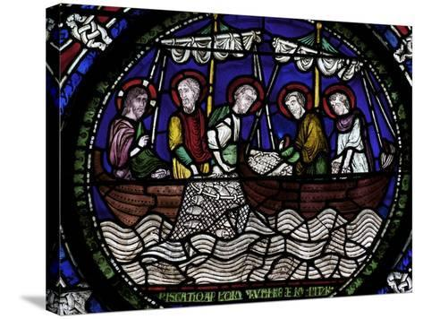 Miraculous Draught of Fishes, Canterbury Cathedral, UNESCO World Heritage Site, Canterbury, England-Peter Barritt-Stretched Canvas Print
