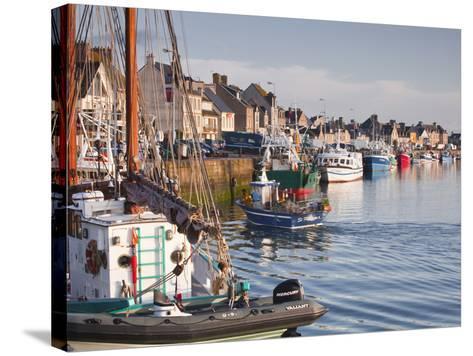 The Fleur de Lampaul and Small Boat in Harbour at Saint Vaast La Hougue, Cotentin Peninsula, France-Julian Elliott-Stretched Canvas Print