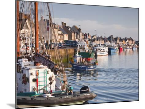 The Fleur de Lampaul and Small Boat in Harbour at Saint Vaast La Hougue, Cotentin Peninsula, France-Julian Elliott-Mounted Photographic Print