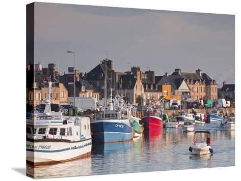 The Harbour at Saint Vaast La Hougue, Cotentin Peninsula, Normandy, France, Europe-Julian Elliott-Stretched Canvas Print