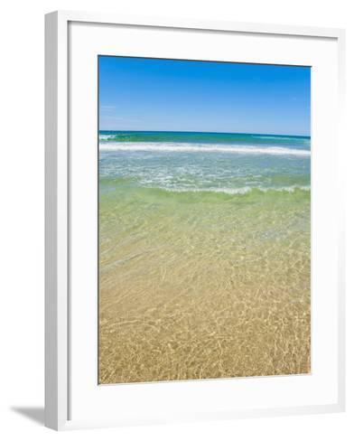 Crystal Clear Blue Sea at Surfers Paradise, Gold Coast, Queensland, Australia, Pacific-Matthew Williams-Ellis-Framed Art Print
