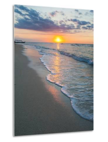 Sunset on the Tropical Island of Gili Trawangan, Gili Islands, Indonesia, Southeast Asia, Asia-Matthew Williams-Ellis-Metal Print