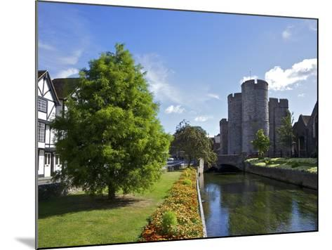 Westgate Medieval Gatehouse and Gardens, with Bridge over River Stour, Canterbury, Kent, England-Peter Barritt-Mounted Photographic Print