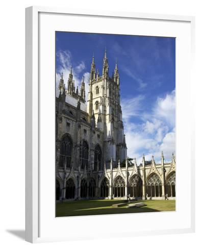 Northwest Tower of Canterbury Cathedral, UNESCO World Heritage Site, Canterbury, England-Peter Barritt-Framed Art Print