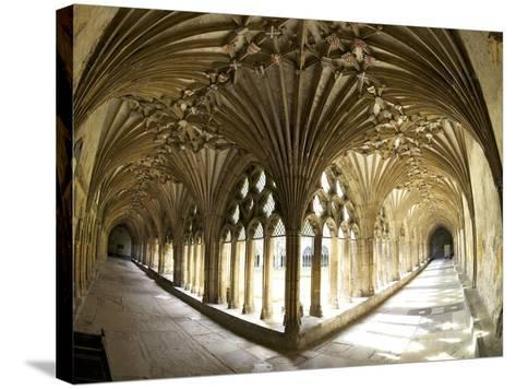 The Great Cloisters, Canterbury Cathedral, UNESCO World Heritage Site, Canterbury, Kent, England-Peter Barritt-Stretched Canvas Print