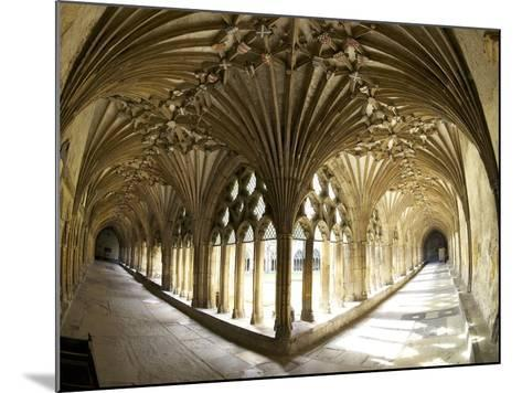 The Great Cloisters, Canterbury Cathedral, UNESCO World Heritage Site, Canterbury, Kent, England-Peter Barritt-Mounted Photographic Print