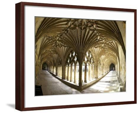 The Great Cloisters, Canterbury Cathedral, UNESCO World Heritage Site, Canterbury, Kent, England-Peter Barritt-Framed Art Print
