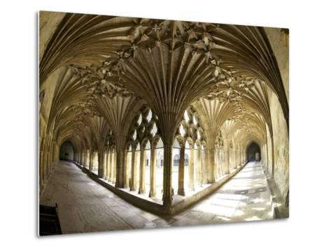 The Great Cloisters, Canterbury Cathedral, UNESCO World Heritage Site, Canterbury, Kent, England-Peter Barritt-Metal Print