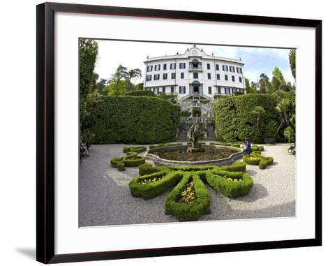 Villa Carlotta and Gardens in Spring Sunshine, Tremezzo, Lake Como, Lombardy, Northern Italy-Peter Barritt-Framed Art Print