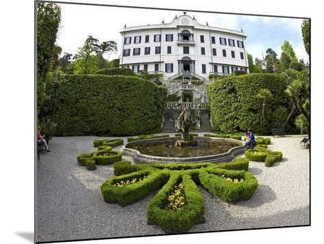 Villa Carlotta and Gardens in Spring Sunshine, Tremezzo, Lake Como, Lombardy, Northern Italy-Peter Barritt-Mounted Photographic Print