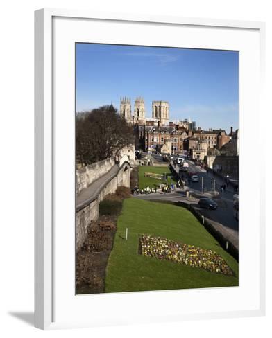 York Minster from the City Walls, York, Yorkshire, England-Mark Sunderland-Framed Art Print