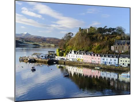 Looking Down at the Harbour of Portree, Isle of Skye, Inner Hebrides, Scotland-Chris Hepburn-Mounted Photographic Print