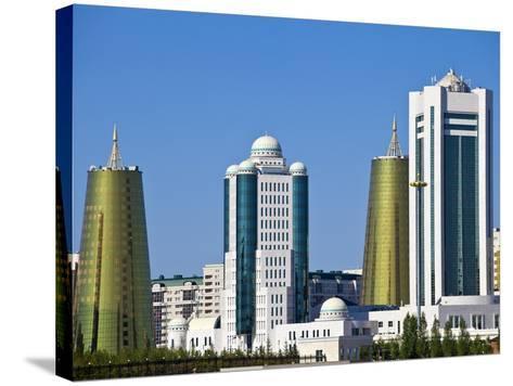 City Skyline, Astana, Kazakhstan, Central Asia, Asia-Jane Sweeney-Stretched Canvas Print