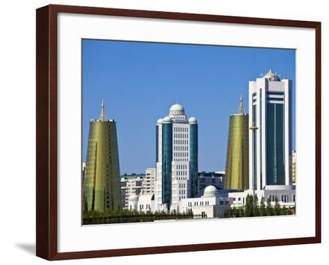 City Skyline, Astana, Kazakhstan, Central Asia, Asia-Jane Sweeney-Framed Art Print