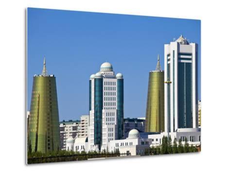 City Skyline, Astana, Kazakhstan, Central Asia, Asia-Jane Sweeney-Metal Print