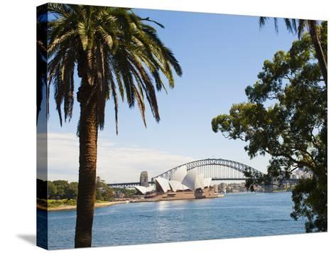 Sydney Opera House, UNESCO World Heritage Site, and Sydney Harbour Bridge, Sydney, Australia-Matthew Williams-Ellis-Stretched Canvas Print