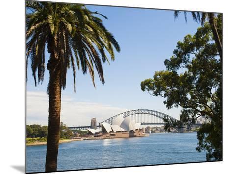 Sydney Opera House, UNESCO World Heritage Site, and Sydney Harbour Bridge, Sydney, Australia-Matthew Williams-Ellis-Mounted Photographic Print
