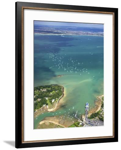 Aerial View of Yachts Racing in Cowes Week on the Solent, Isle of Wight, England, UK, Europe-Peter Barritt-Framed Art Print