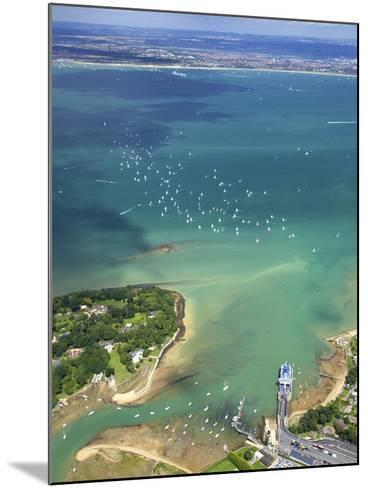 Aerial View of Yachts Racing in Cowes Week on the Solent, Isle of Wight, England, UK, Europe-Peter Barritt-Mounted Photographic Print